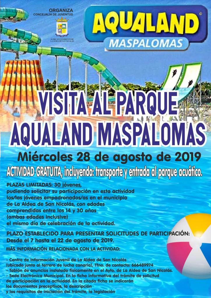 CARTEL VISITA AL PARQUE AQUALAND MASPALOMAS