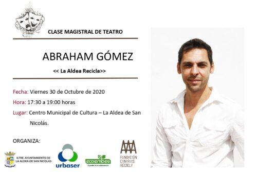 Abraham Gómez imparte una clase magistral de teatro en La Aldea