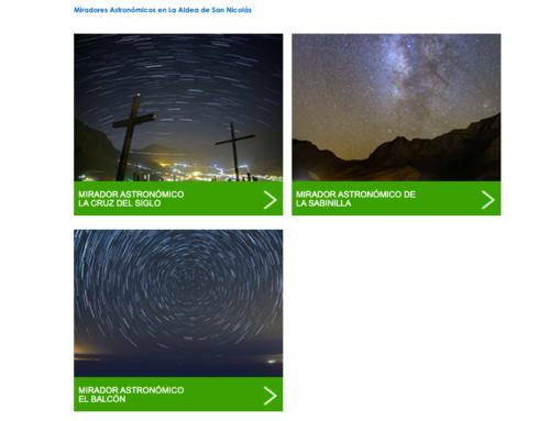 Los miradores astronómicos de La Aldea ya se promocionan en la web de turismo de Gran Canaria