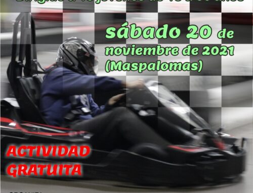 La Concejalía Juventud organiza una actividad en el Karting de Maspalomas el 20 de noviembre