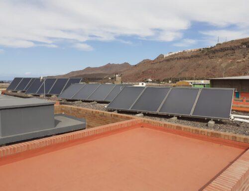 Finaliza la obra de ampliación de la instalación solar térmica en la residencia de mayores