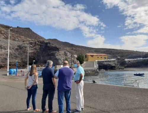Los técnicos de Puertos Canarios visitan La Aldea e inician la redacción del proyecto de ejecución de las necesidades del puerto