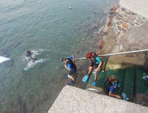 Éxito en la actividad de snorkel celebrada en la playa de La Aldea