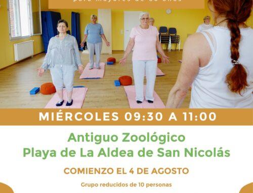 La concejalía de Servicios Sociales organiza sesiones de yoga terapéutico para personas mayores de 60 años en La Aldea y Tasarte