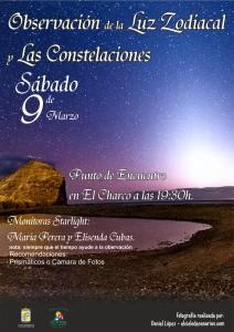 luz zodiacal y constelaciones